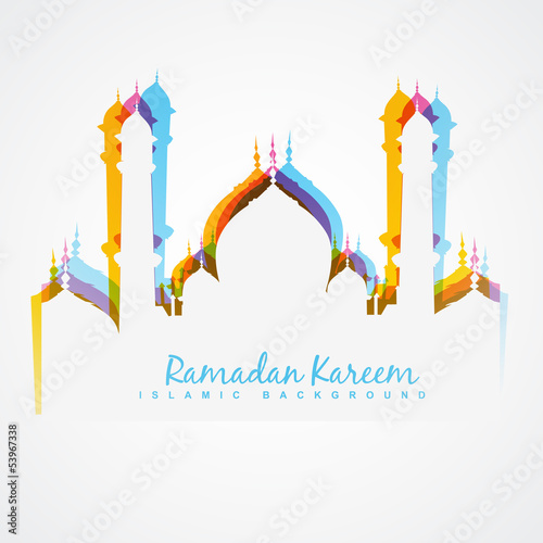 colorful mosque design