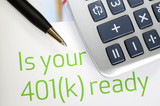 Focus on the investment in the 401K plan concept of retirement poster