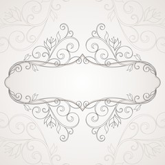 Floral frame. Abstract floral background.