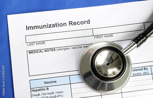 Immunization Record concept of vaccination