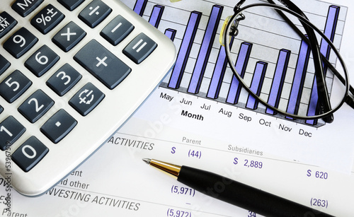 Monitoring the business performance concept of investment