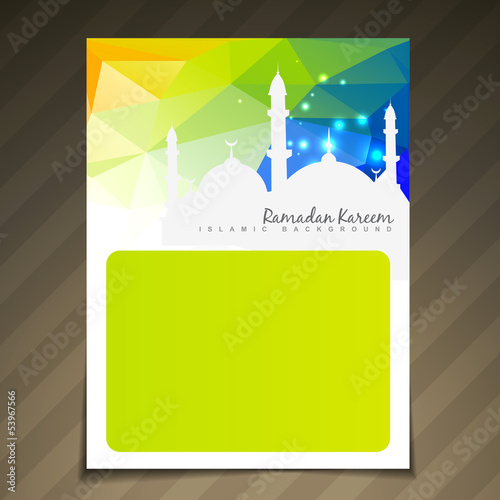 shiny islamic festival template