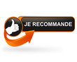 je recommande sur bouton web design orange