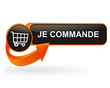 je commande sur bouton web design orange