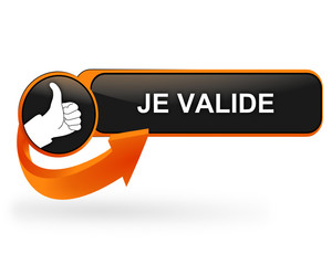 je valide sur bouton web design orange