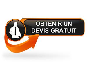 obtenir un devis gratuit sur bouton web design orange