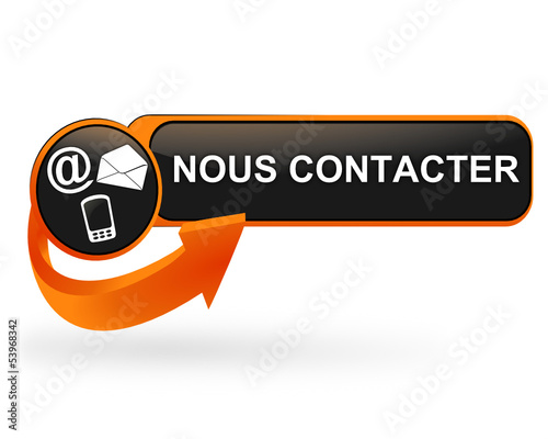 nous contacter sur bouton web design orange