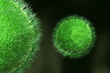 Viruses,  detailed 3d illustration