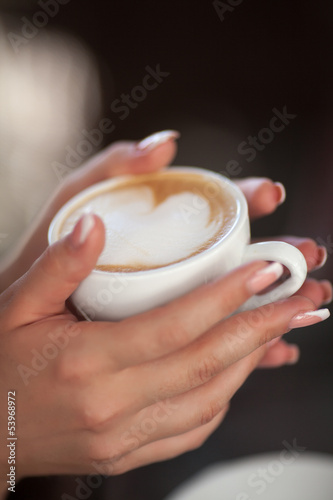 woman coffee hot aroma drink