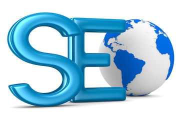 Search Engines Optimization. Isolated 3D image