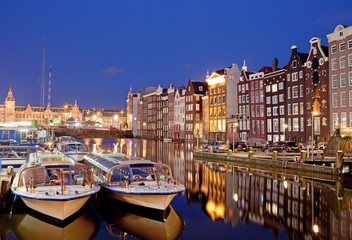 Night in the City of Amsterdam