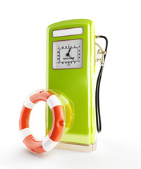 life buoy old gasoline filling 3d Illustrations