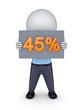 45 percents.