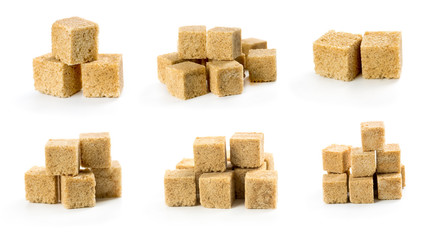 Set of cane sugar cubes