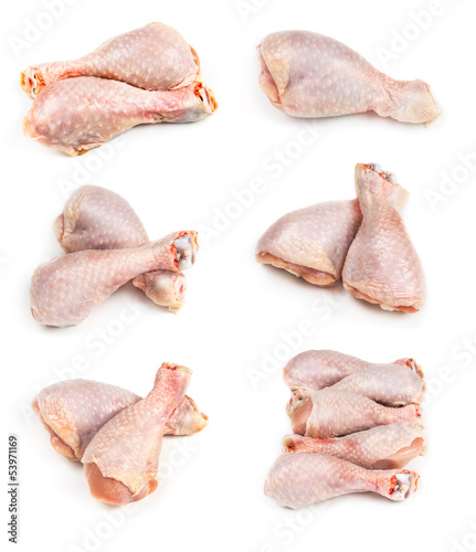 Set of raw chicken legs