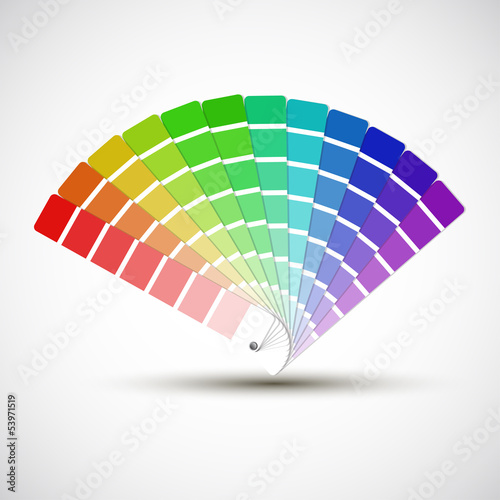 Color palette isolated on white background, color vector samples