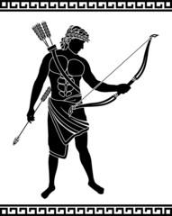 ancient bowman  stencil