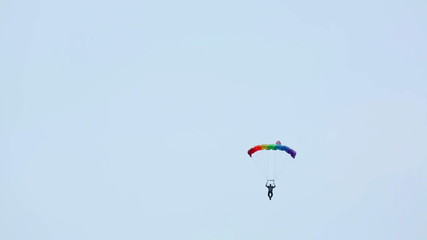 Paraglider spinning un the air.
