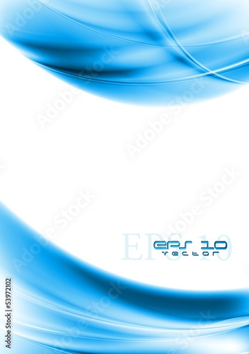 Colourful wavy elegant backdrop. Gradient mesh included