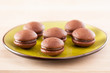Chocolate whoopies on a dish