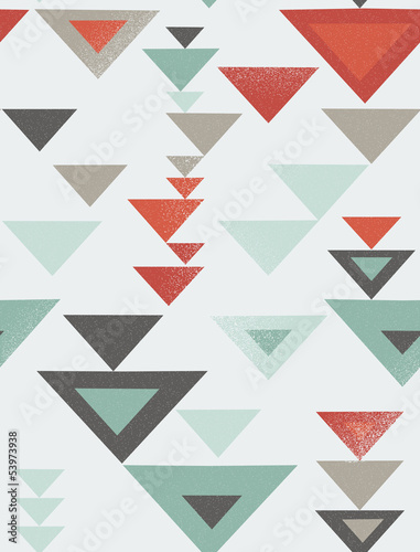 Seamless geometric pattern with vintage texture © Ms.Moloko