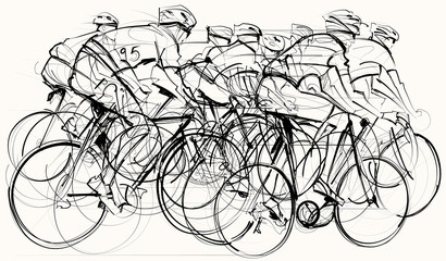 cyclists in competition