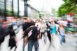 canvas print picture - Einkaufsstraße mit Zoom-Effekt