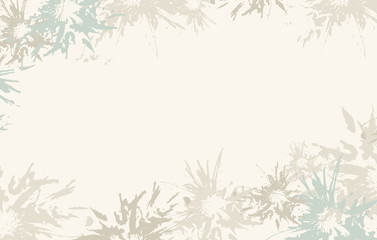 Light-blue abstract floral background, vector