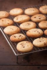 Making homemade almond cookies