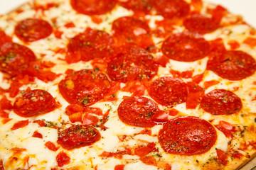 Hot Cheesy Pepperoni Pizza