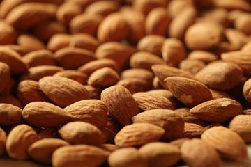 Almonds background