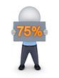 75 percents.