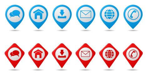contact web buttons set - website menu