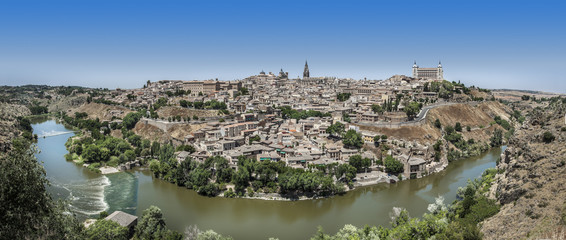 Panorama Ville de Tolède Espagne