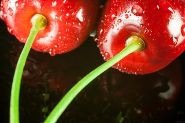 macro cherries
