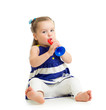 Kid  girl playing musical toy