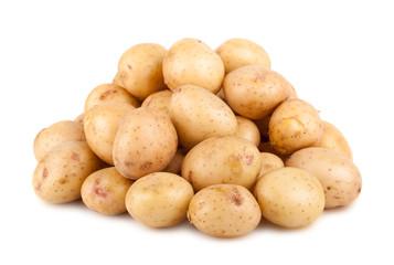 Big heap of ripe potato