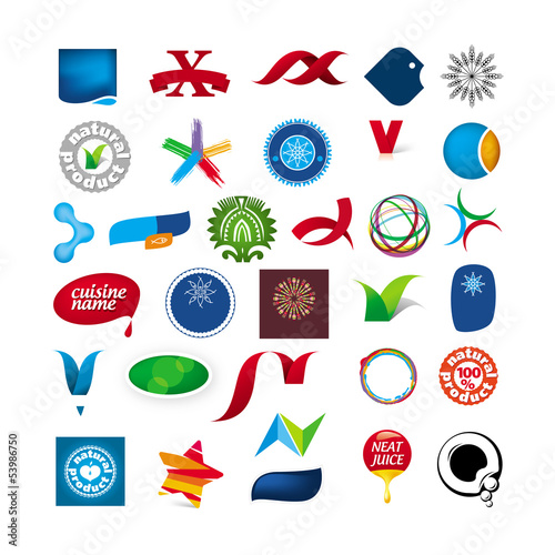 branded collection of abstract symbols