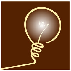 Light Bulb IDEA Illustration