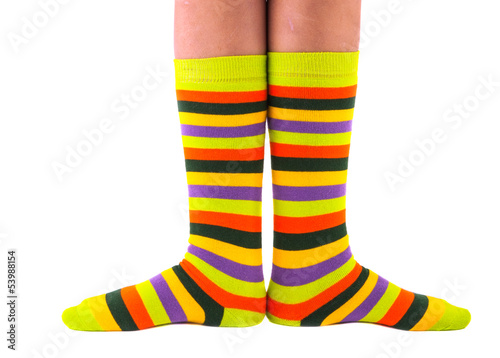 color striped socks