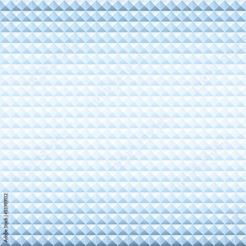 Blue textured pyramid background.