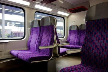 Interior of a czech City Elefant train