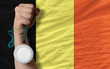 Silver medal for sport and  national flag of belgium