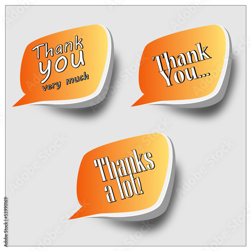 Thank you - grateful speech bubbles