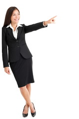 Young Businesswoman Pointing At Copyspace