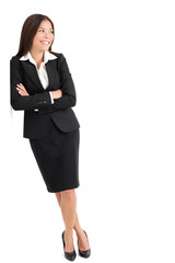 Young Businesswoman Looking Sideways
