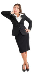 Confused Businesswoman Looking Away