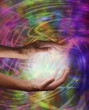 Healing hands and colour energy