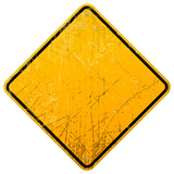 Rusty Yellow Sign