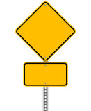 Yellow Sign and Pole